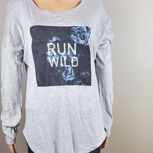 The North Face Gray Run Wild Long Sleeved  T-Shirt